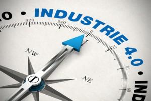 Kompass zeigt auf Industrie 4.0